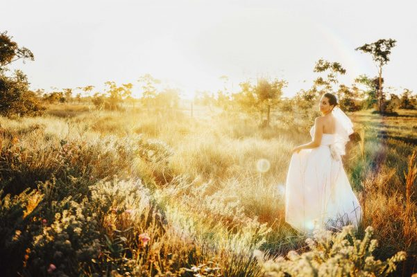 wedding photography during golden hour